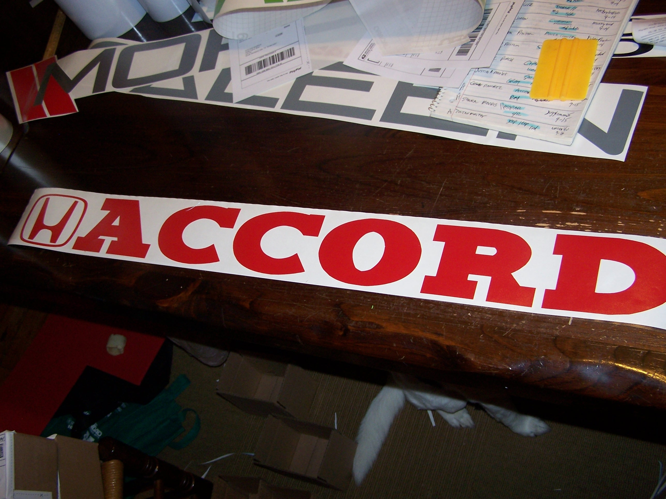 ACCORD WINDSHIELD DECAL BANER VINYL STICKER - Honda accord decals stickers
