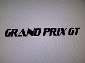 GRAND PRIX GT WINDSHIELD DECAL BANNER