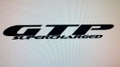 GTP SUPERCHARGED WINDSHIELD DECAL BANNER