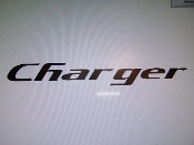 CHARGER WINDSHIELD DECAL BANNER CHOOSE COLOR AND SIZE