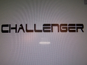 CHALLENGER WINDSHIELD DECAL BANNER CHOOSE SIZE AND COLOR