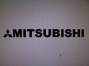 "MITSUBISHI WINDSHIELD DECAL BANNER VINYL STICKER 4"" X 40"""