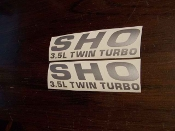 SHO 3.5L Twin Turbo Hood FENDER Decal Sticker Emblem Ford TAURUS