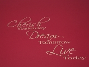 CHERISH DREAM LIVE VINYL DECAL WALL ART