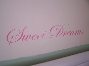 SWEET DREAMS VINYL DECAL WALL ART