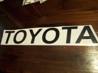 Toyota Tailgate Decal
