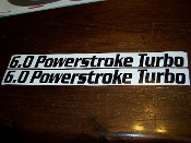 6.0 POWERSTROKE TURBO HOOD FENDER DECAL STICKER