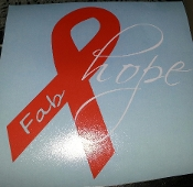 FABRIZIO HOPE FOR THE CURE OF LEUKEMIA DECAL