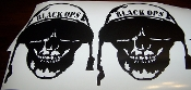 BLACK OPS SKULL DECAL SET OF 2