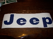 1975-86 JEEP CJ TAILGATE VINYL DECAL CJ7 SCRAMBLER CJ8