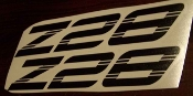 Z28 CAMARO EMBLEM FENDER VINYL DECAL SET OF 2 1993-2002