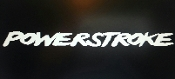POWERSTROKE WINDSHIELD WINDOW VINYL DECAL CHOOSE SIZE & COLOR