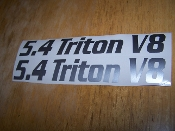 5.4 TRITON V8 FENDER TRUNK HOOD SCOOP VALVE COVER VINYL DECAL