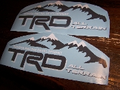 TRD ALL TERRAIN BEDSIDE / WINDOW STICKER VINYL DECAL SET OF 2