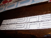 JEEP ALPINE HOOD DECALS VINYL STICKER SET