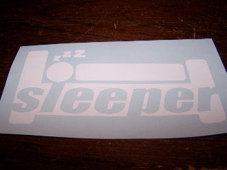 SLEEPER VINYL DECAL STICKER CHOOSE COLOR & SIZE