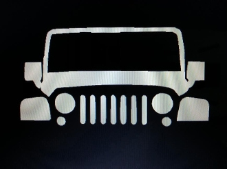 JEEP WRANGLER IDENTITY TAG VINYL STICKER DECAL TJ JK