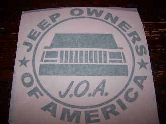 JEEP OWNERS OF AMERICA MEMBERS MJ VINYL DECAL STICKER COMANCHE