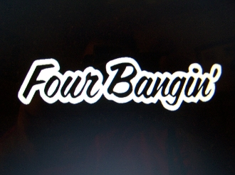 FOUR BANGIN' VINYL DECAL STICKER CHOOSE COLOR & SIZE