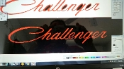CHALLENGER WINDSHIELD DECAL BANNER CHOOSE SIZE & COLOR/COLORS