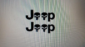 JEEP FENDER SKULL DECAL SET OF 2 WRANGLER CJ YJ SCRAMBLER