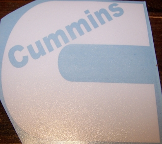CUMMINS LOGO WITH TEXT VINYL STICKER DECAL