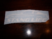 2015 STANG LIFE WINDOW BANNER STICKER DECAL CHOOSE COLOR