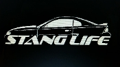 1996-1998 STANG LIFE WINDOW BANNER STICKER DECAL CHOOSE COLOR
