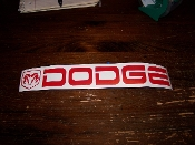 DODGE WITH RAM HEAD VINYL DECAL CHOOSE COLOR & SIZE