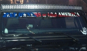 JEEP OWNERS OF AMERICA WINDSHIELD VINYL DECAL BANNER FLAG ED.