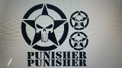 JEEP PUNISHER DECAL SET OF 5 FOR HOOD & FENDERS, OR ETC.