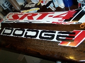 DODGE WINDSHIELD BANNER CHOOSE COLORS & SIZE