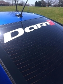 DODGE DART WINDSHIELD  WINDOW BANNER CHOOSE 2 COLORS