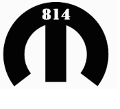 814 MOPARS LOGO WITH 814 AT THE TOP VINYL STICKER DECAL