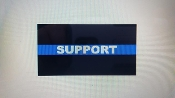POLICE & LAW ENFORCEMENT SUPPORT BLUE LINE DECAL