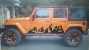JEEP WRANGLER MOUNTAIN DECALS FULL SIDE SET OF 2