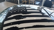 2015-2016 MUSTANG DISTRESSED AMERICAN FLAG FOR ROOF