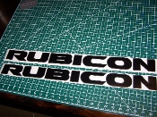 JEEP 10TH ANNIVERSARY RUBICON HOOD VINYL DECAL SET 2 COLORS