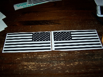 AMERICAN FLAG VINYL DECAL STICKER SET OF 2