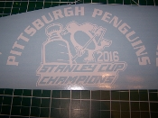 PITTSBURGH PENGUINS 2016 STANLEY CUP CHAMPION DECAL CHOOSE SIZE