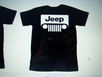 JEEP WRANGLER LOGO T-SHIRT CHOOSE SIZE AND COLOR