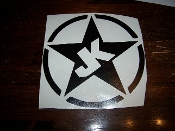 JK JEEP STAR VINYL STICKER DECAL WRANGLER JK JKU