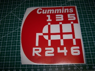 CUMMINS LOGO 6 SPEED WITH TEXT VINYL STICKER DECAL CHOOSE COLOR