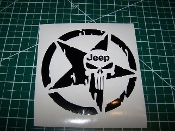 JEEP PUNISHER SKULL STAR VINYL DECAL STICKER