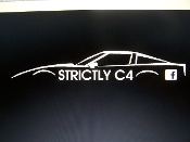 STRICTLY C4 CORVETTE GROUP VINYL DECAL STICKER CHOOSE COLOR