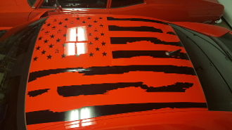 2010 2018 Camaro Distressed American Flag For Roof Ss Z 28