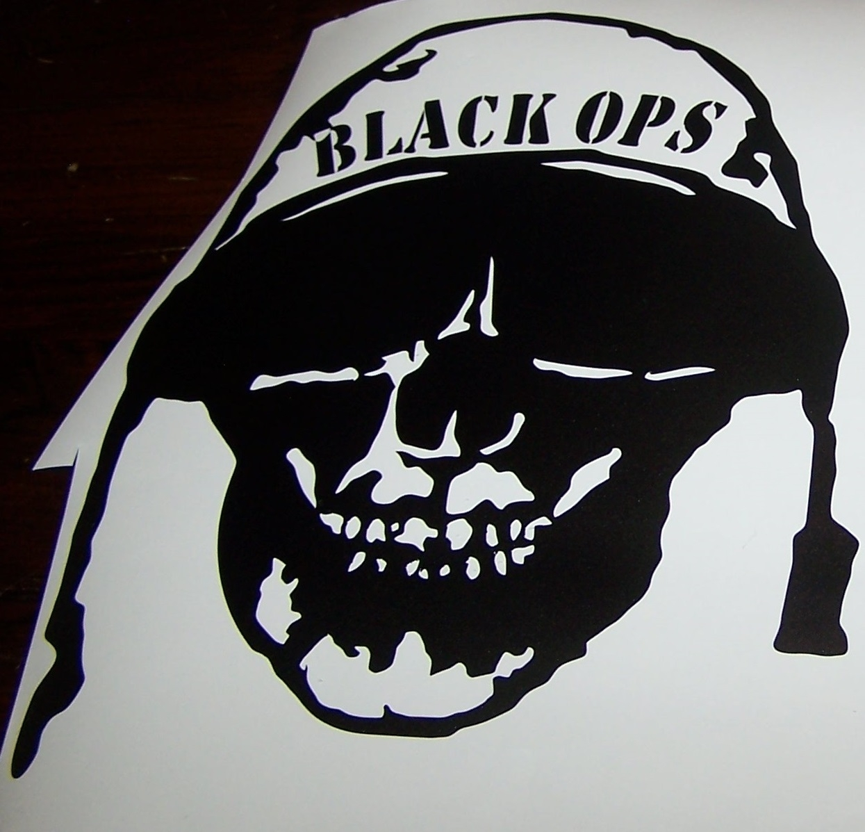 BLACK OPS CALL OF DUTY SKULL JEEP WRANGLER HOOD DECAL