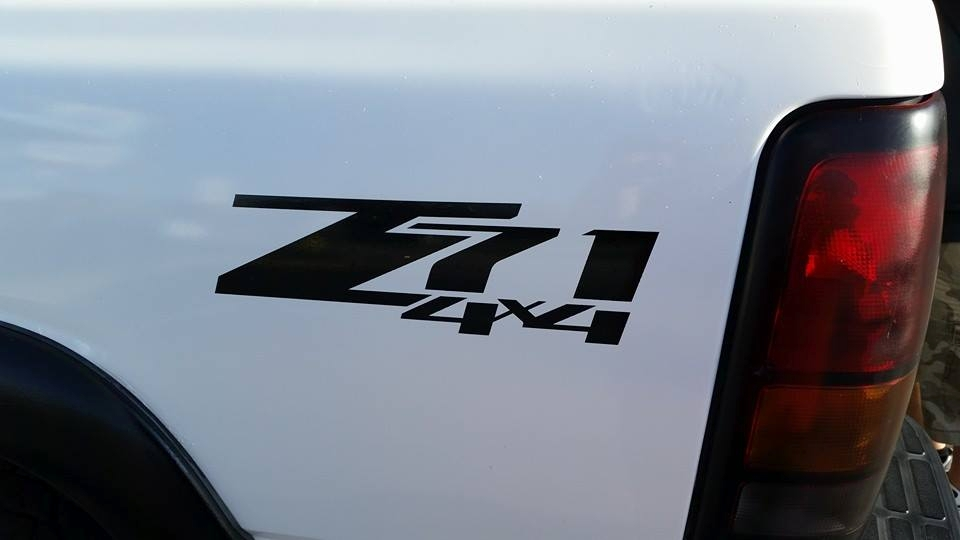 Z71 4x4 bedside window sticker vinyl decal choose color chevrolet