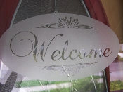 WELCOME DECAL WALL ART