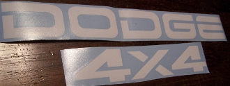 DODGE & 4x4 TAILGATE DECAL SET RAM DAKOTA